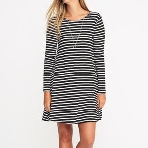 NWT Old Navy   Long Sleeve Striped Swing Dress
